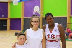 Sandra Dijon-Gérardin avec Ludivine et son frère